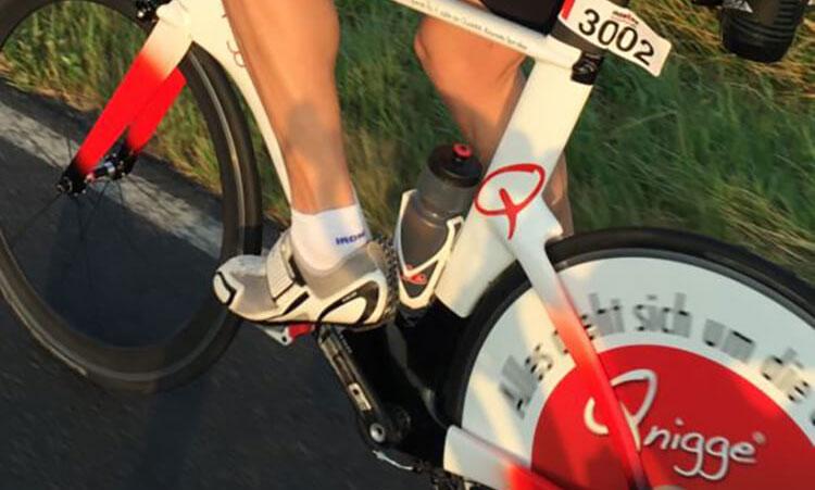 Markus Weidner auf Rennrad 20 Jahre 50 sein