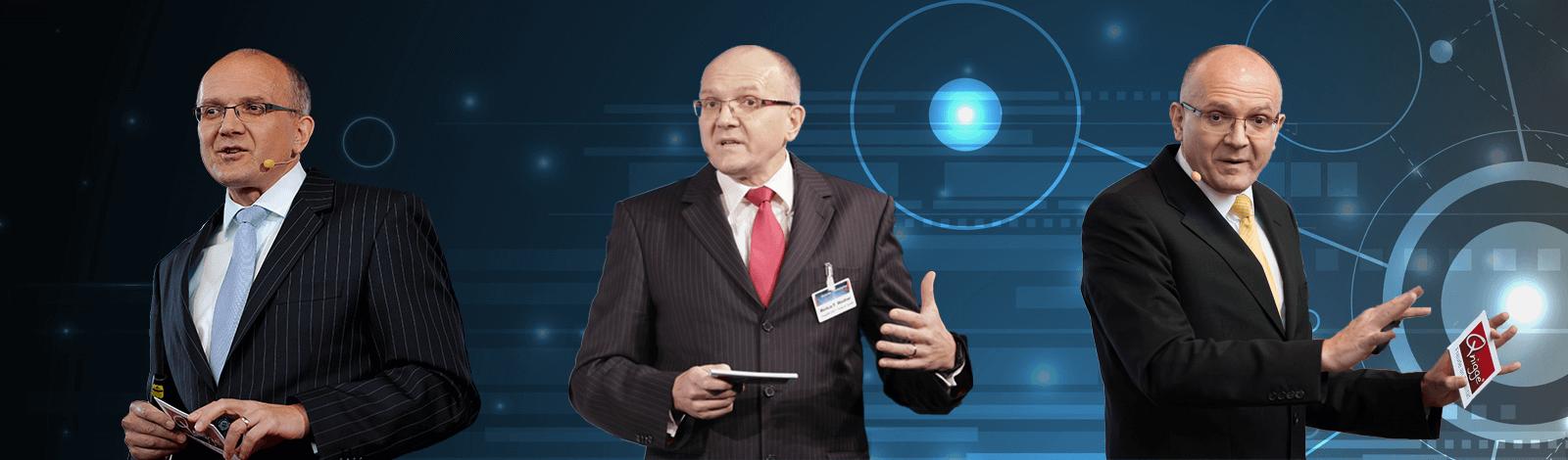 Markus Weidner in drei Vortragspositionen